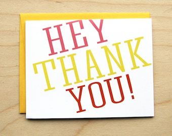 Hey! Thank You Card