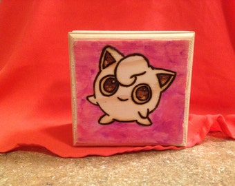 Our courage will pull us through! Jigglypuff Wood Burned Jewelry Box