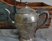 Vintage Antique Silver Plated Teapot
