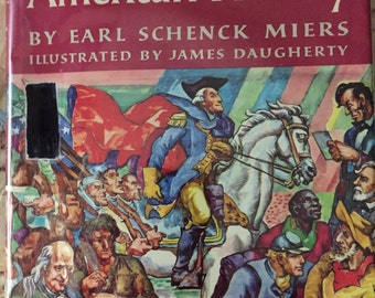 Rainbow Book of American History by Earl Schenck Miers Illustrated by James Daugherty 1968 2nd printing