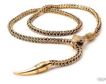 DIAMOND BACK SNAKE Necklace