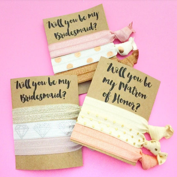 Will You Be My... Bachelorette Party Favor Hair Ties