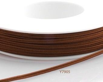 Soutache braid - Cellulose Acetate flat 3mm soutache cord - leather brown (Y7905) - 5 meters