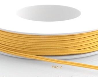 Soutache braid - Cellulose Acetate flat 3mm soutache cord - golden yellow (Y4212) - 5 meters