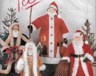 """Butterick 5863 St Nick,  Santa, Father Christmas 18"""" 15"""" 13"""" Dolls UNCUT Sewing pattern"""
