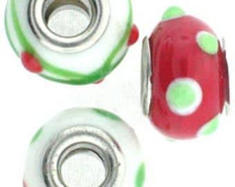 Christmas Lg. Hole Beads