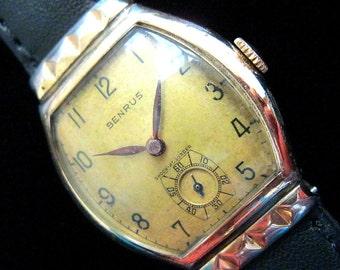 Benrus Hooded Lugs Watch - c.1940's