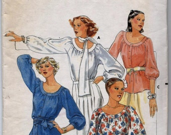 Vintage Semi-Fitted Blouse in Two Different Lengths Sewing Pattern - Butterick 5523 - Size 10