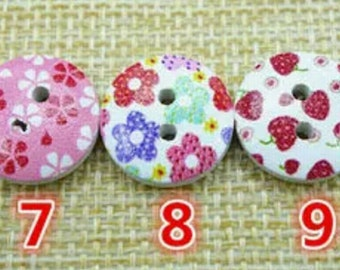 Colourful buttons for children clothes making
