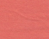 Solid Deep Coral 4 Way Stretch 9oz Cotton Lycra Jersey Knit Fabric, 1 Yard