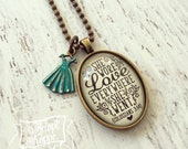 she wore love everywhere she went Colossians 3:14 necklace