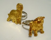 Goldtone dog rings - RESERVED for Lauralee