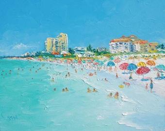 Clearwater Beach Florida Decor Art Painting Ocean
