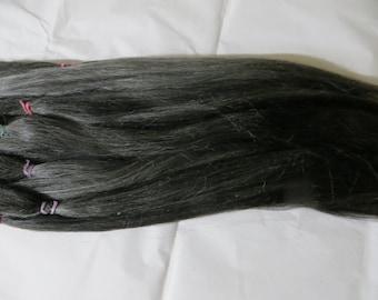 Doll Hair / Re root /Dark Gray / Combed Suri Alpaca / Wig (55)