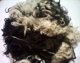 Suri Alpaca / Blending fiber / Spinning Fiber / Do it yourself Doll Hair / Unwashed / (D-5)