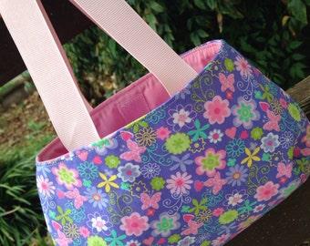 Purple Pink Flowers Little Girl's Purse
