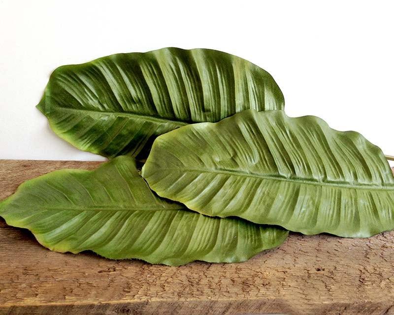 Tropical decor banana leaves tropical leaf banana leaf for Artificial banana leaves decoration