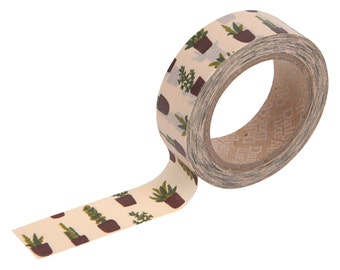 30 Succulent Washi tape -plant washi-craft supplies-card making- party supplies- planner washi-gift wrapping--Love My Tapes-Dailylike