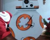 """BB-8 Star Wars """"The Force Awakens"""" Wall Clock"""