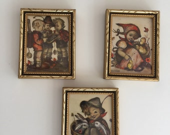 Hummel Prints Framed/Mid Century Hummel /Framed Prints/Wall Art/ By Gatormom13 JUST REDUCED
