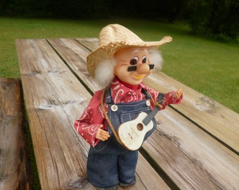 Hillbilly Doll, Folk Art Doll, Redneck Vintage Doll