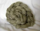 Custom Blend Corriedale Combed Top with Nylon Sock Spinning Fiber - Grey Corriedale Brown Corriedale Natural Corriedale