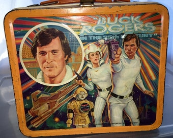 1979 Buck Rogers in the 25th Century space tv show Aladdin industries metal lunch box lunchbox