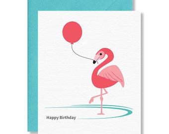 Birthday Card / Flamingo Card / Happy Birthday