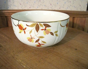 """Hall China Autumn Leaf Jewel Tea 7 1/2"""" Radiance Bowl"""