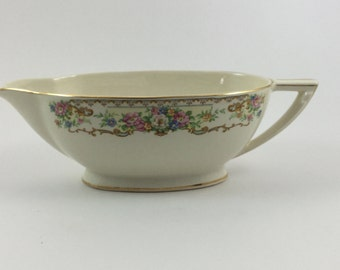 Vintage Edwin M Knowles Gravy Boat Made in USA