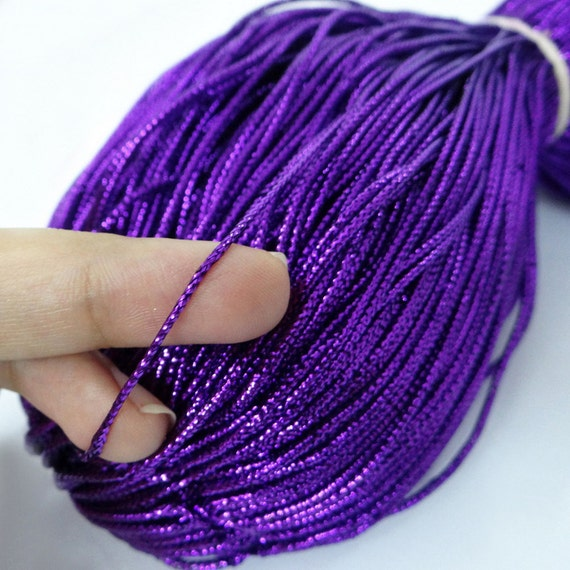 Purple Decorative Crafting Metallic Embroidery Thread