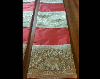 Ready for Immediate Purchase: Elegant Red Silk Liturgical Stole for Ordination, Installation and Pentecost