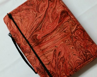 Bible Cover Orange Swirls
