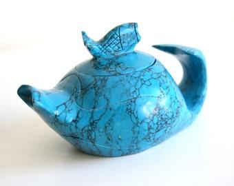 Turquoise Quartz Pot