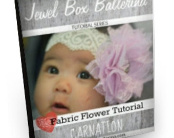 Hair Bow Tutorial - Hair Bow - Fabric Flower Tutorial - Carnation