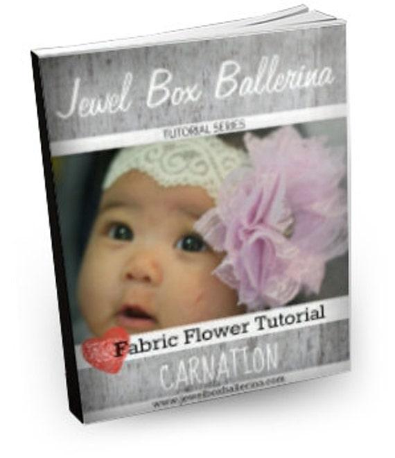 Hair Bow Tutorial - Hair Bow - Fabric Flower Tutorial - Carnation