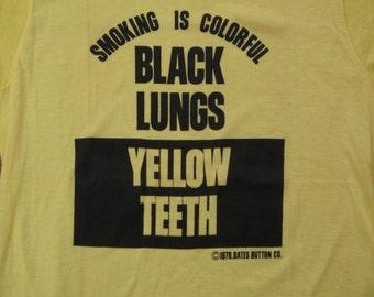 vintage anti smoking t shirt
