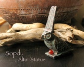Sopdu - Ancient Egyptian God of the Scorching Sun and War Diety - Handmade Altar Votive Statue by Shadow of the Sphinx
