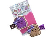 Peanut butter and jelly clip, felt hair clip, baby hair clip, toddler hair clip, hair accessory  hair clippies baby barrettes,