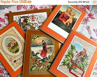 Blank Greeting Cards - Christmas and New Years - Made from Antique Postcards!