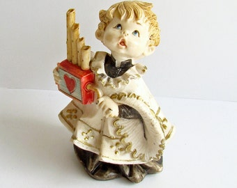 Christmas Decoration, Fontanni Italy, Choir Boy, Caroler Figurine, Simonetti 1987,