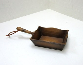 Vintage Ucagso Wooden Serving Tray Scoop Made In Japan