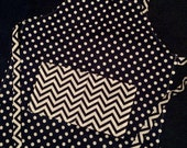 Kids apron, childs apron, little apron, childrens apron, small size, polka dot chevron navy