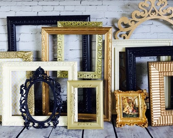 Ornate Picture Frames, Home Decor, Nursery Wall Gallery Reclaimed Wall Art Custom Color Frames