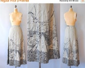 30%OFF 1970s Maxi Skirt / Town & Country Skirt / 70s