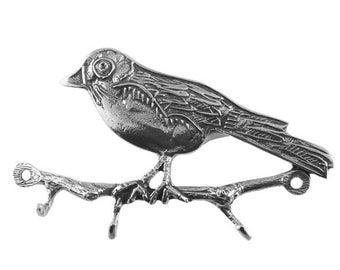 Robin Key Rack, Pewter Key Rack, Key Rack with Bird