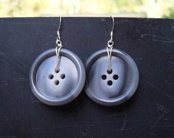 Tortoiseshell Button Earrings