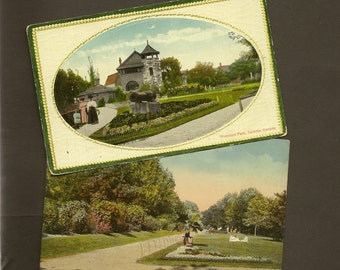 Pair Vintage Toronto Postcards – Riverdale Park Unused 1 Tuck Excelsior Series Early 1910s