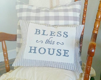 16 x 12 inch Bless This House pillow cover