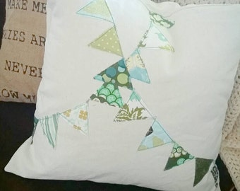 18 inch bunting pillow cover